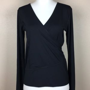 Lululemon Faux Wrap Black Long Sleeve top